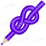 Purple knot pencil