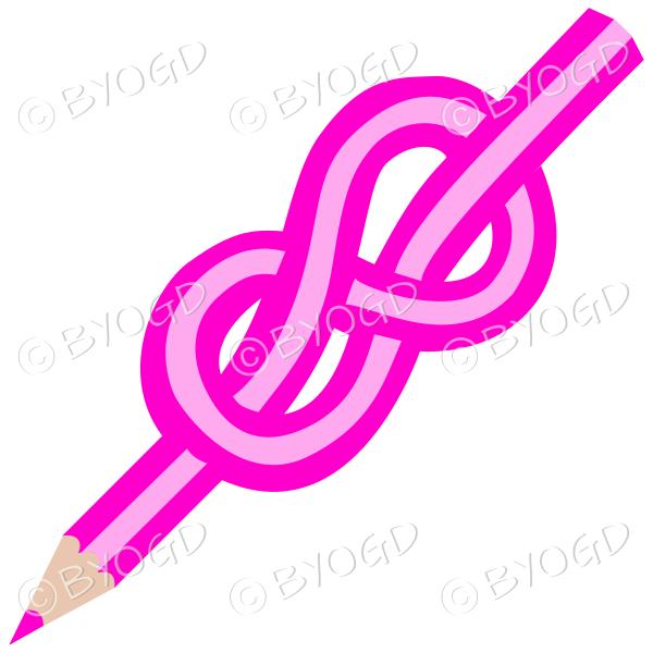 Pink knot pencil