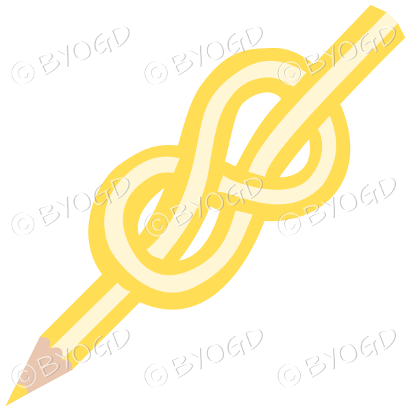Yellow knot pencil