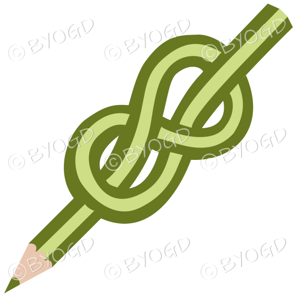 Green knot pencil