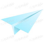 Blue paper plane email icon