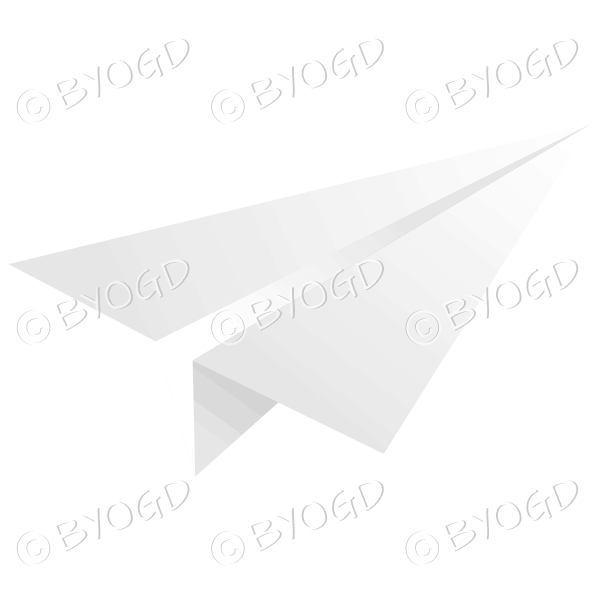 White paper plane email icon