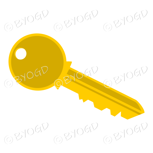 Gold door key