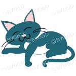 Blue cat relaxing