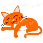 Orange cat relaxing (Ginger)