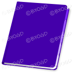 Purple folder closed with blank cover for your title
