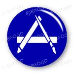 App button round in blue