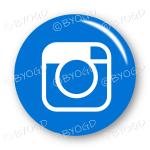 Instagram button - round in blue