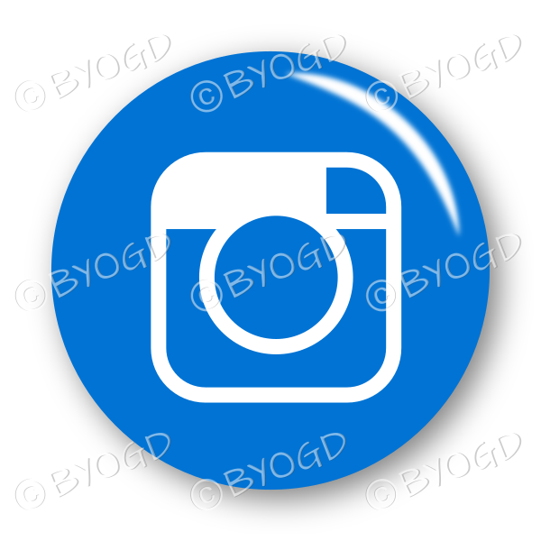 Instagram button – round in blue