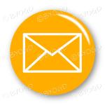 Email envelope button - round in orange