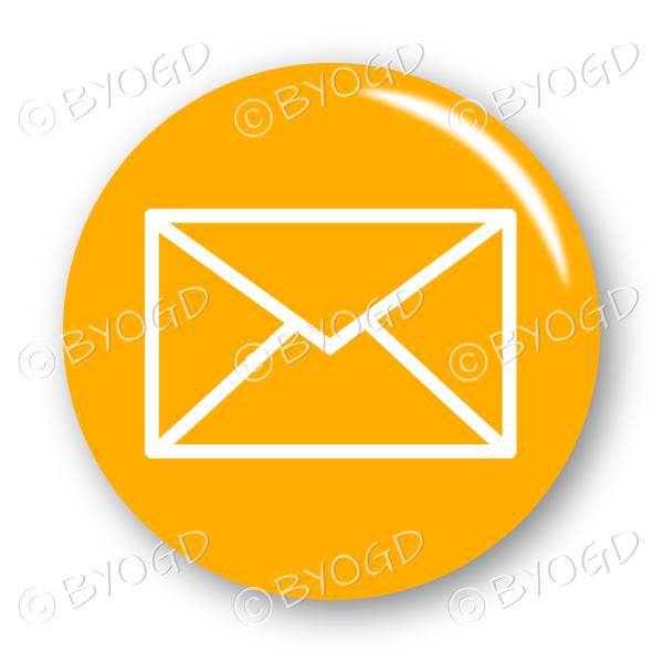 Email envelope button – round in orange