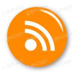 RSS button - round in orange