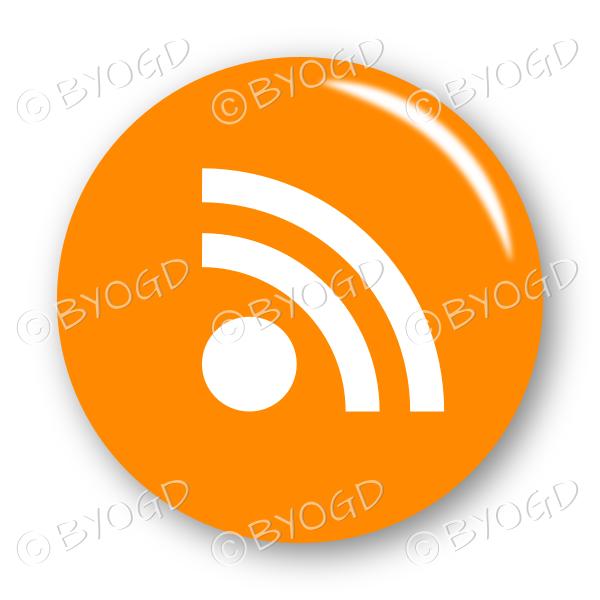 RSS button – round in orange