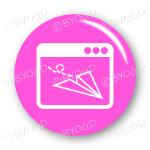 Website email button - round in pink
