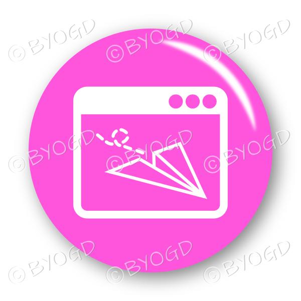 Website email button – round in pink