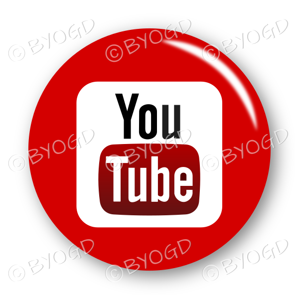 YouTube logo button – round in red