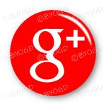Google+ logo button - round in red