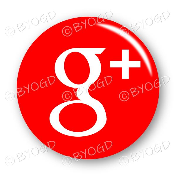 Google+ logo button – round in red