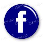 Facebook logo button - round in blue