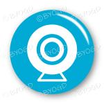 Webcam button - round in blue