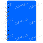 Blue notebook for your own message