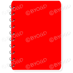 Red notebook for your own message