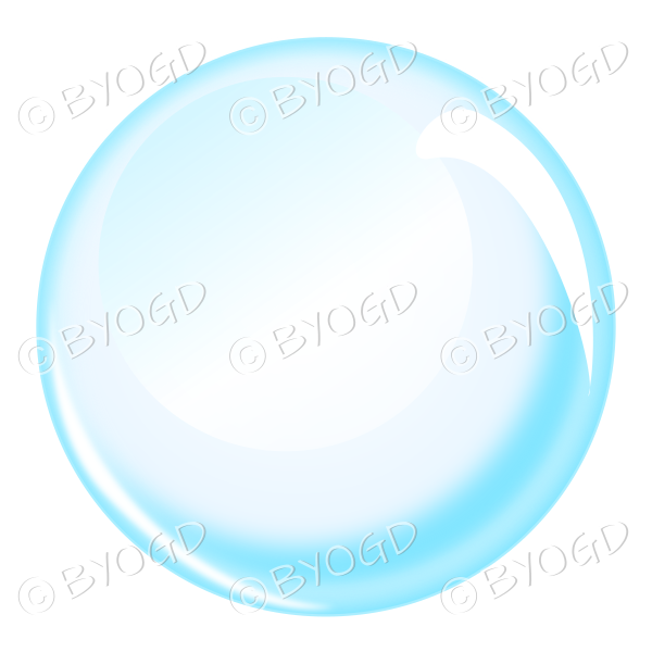 Blue bubble sphere or crystal ball