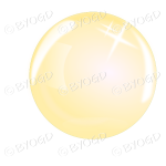 Yellow bubble, sphere or crystal ball