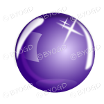 Purple bubble, sphere or crystal ball