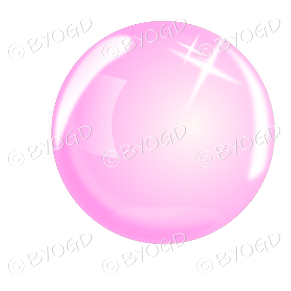 Pink bubble, sphere or crystal ball