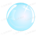 Blue bubble, sphere or crystal ball
