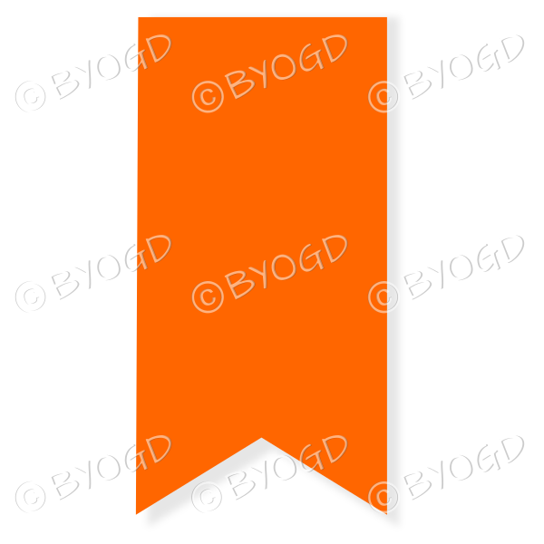 Orange Drop Down Ribbon Banner Be Your Own Graphic Designer
