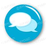 Chat bubble button - Light Blue.