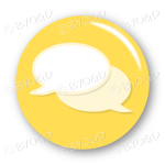 Chat bubble button - Yellow.