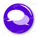 Chat bubble button - Purple.