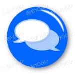 Chat bubble button - Blue.