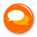 Chat bubble button - Orange.
