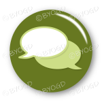 Chat bubble button - Green