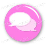 Chat bubble button - Pink.