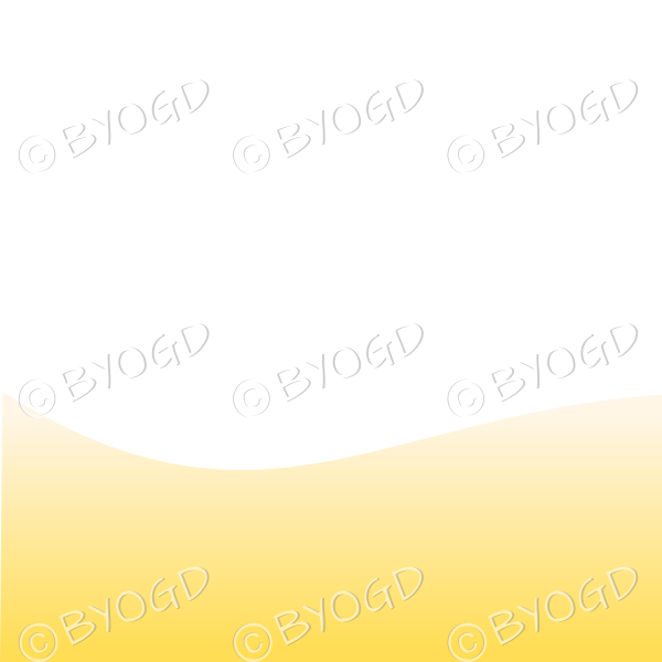 White background with yellow sand / beach landscape graduated light to dark