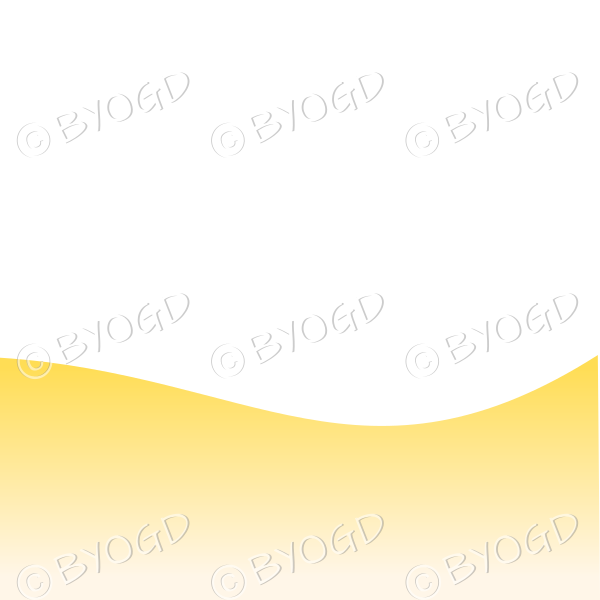 White background with yellow sand / beach landscape graduated dark to light