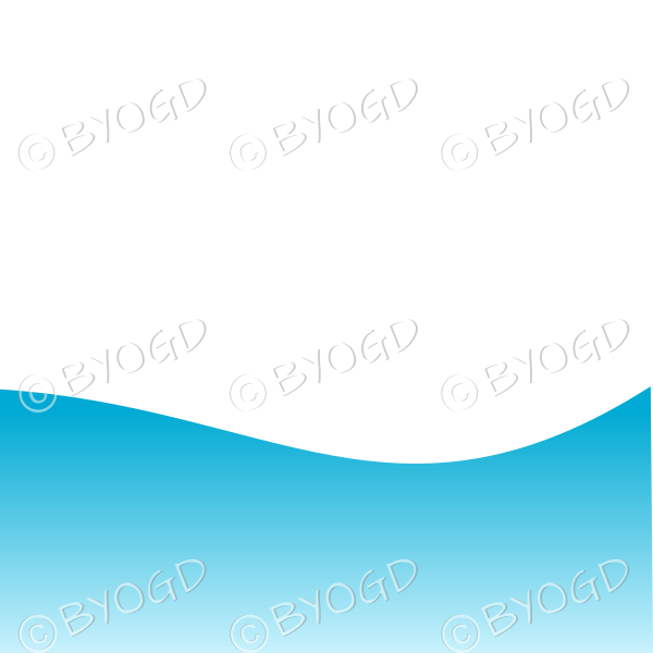 White background with blue sea / sky landscape graduated dark to light