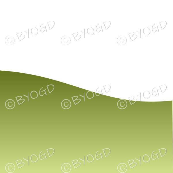 White background with dark green grass landscape graduated dark to light