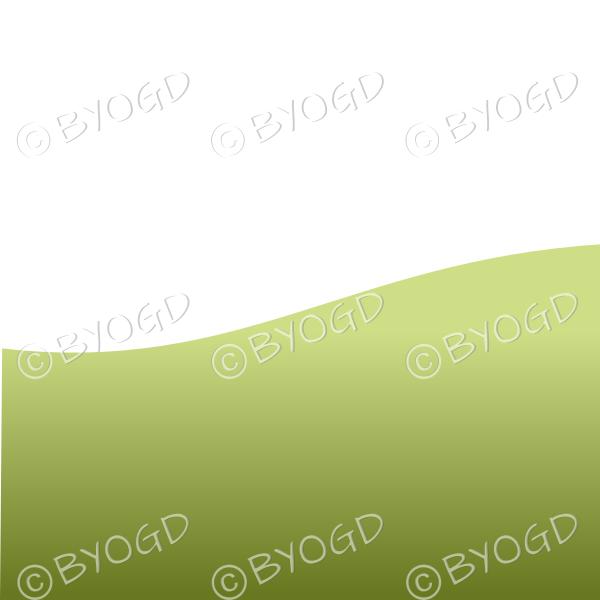 White background with dark green grass landscape graduated light to dark