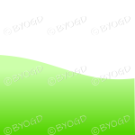 White background with bright green grass landscape