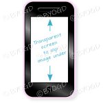 Smart phone with clear screen and pink case