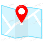 Light Blue street map to show directions to your clients.