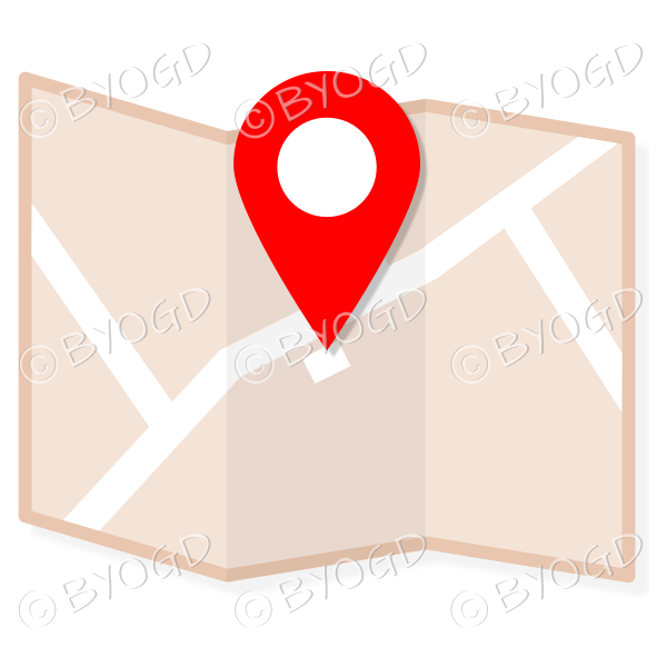 Brown street map to show directions to your clients