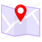 Purple street map to show directions to your clients.
