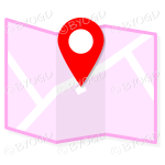 Pink street map to show directions to your clients.